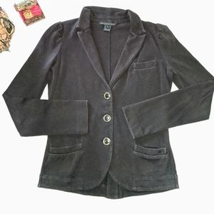 Marc By Marc Jacobs Black Cotton Blazer Small